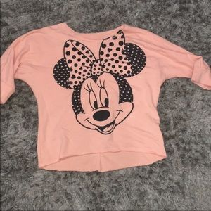 GIRLS MINNIE MOUSE TOP GREAT CONDITION SIZE L